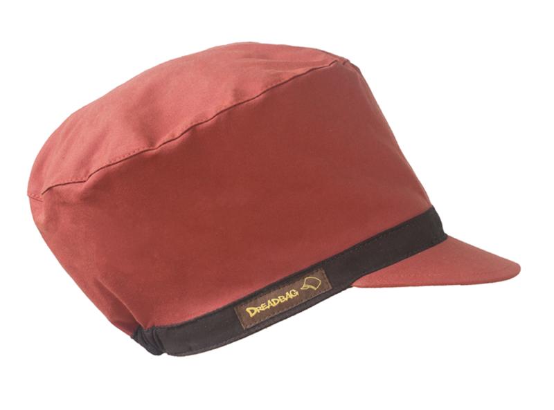 Rote Dreadlocks Mütze