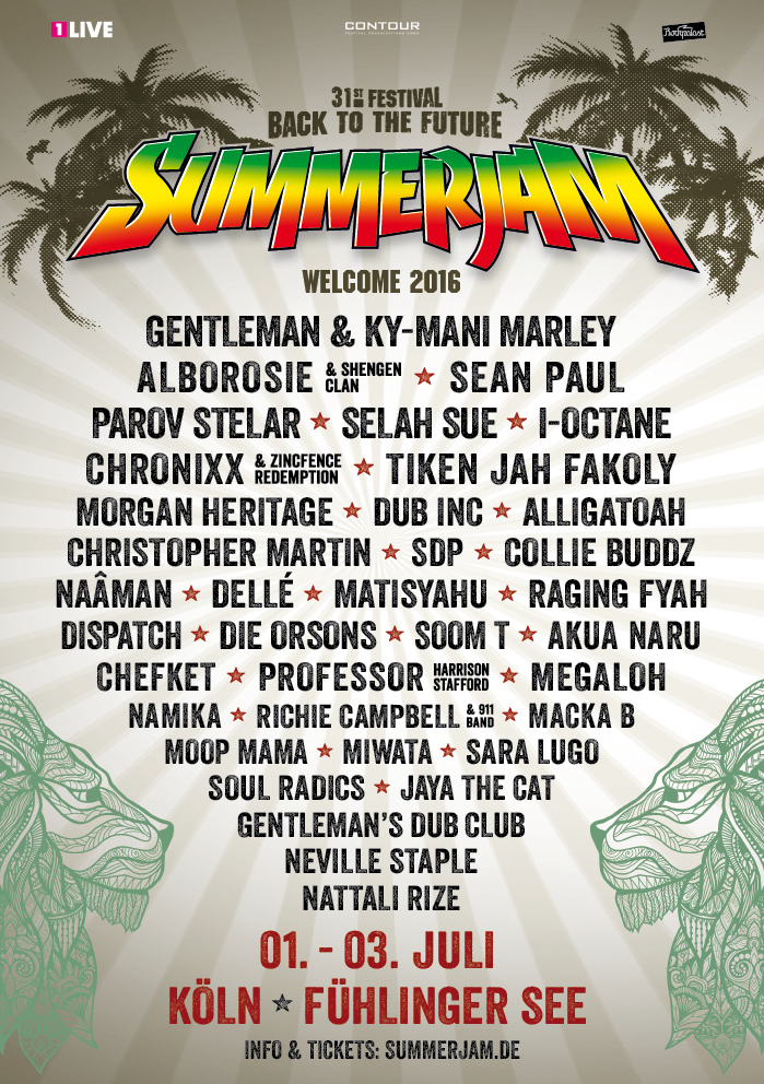 Summerjam Festival 2016 in Cologne