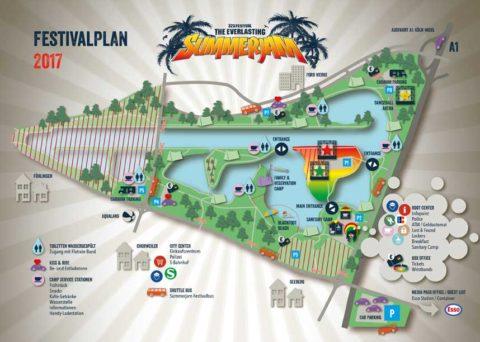 Summerjam 2017 Festivalplan