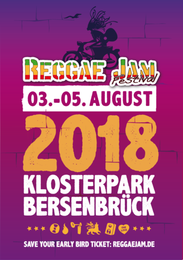 Reggae Jam 2018 – Early Bird Tickets