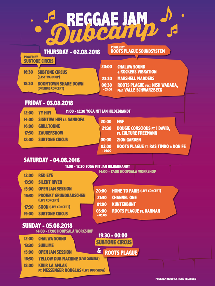 Режисьор Джам 2018 - Running Order - Dub Camp