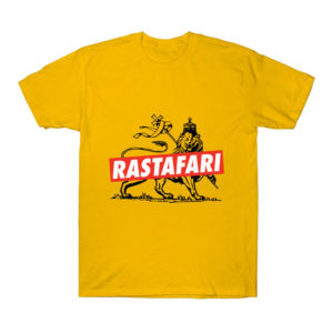 The Conquering of the Lion of Judah - Yellow Jah Rastafarian Reggae Shirt