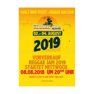 Купити онлайн guenstig Reggae Jam Festival 2019 Early Bird квитки