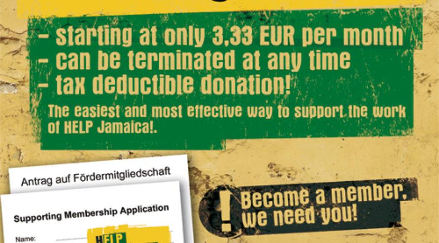 Help Jamaica! lidmaatschap
