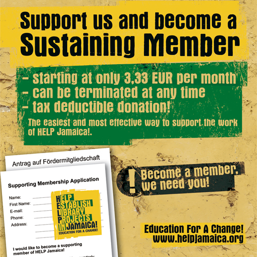 Pomôžte Jamajke - Podporujte Jamajku - Udržujte člena