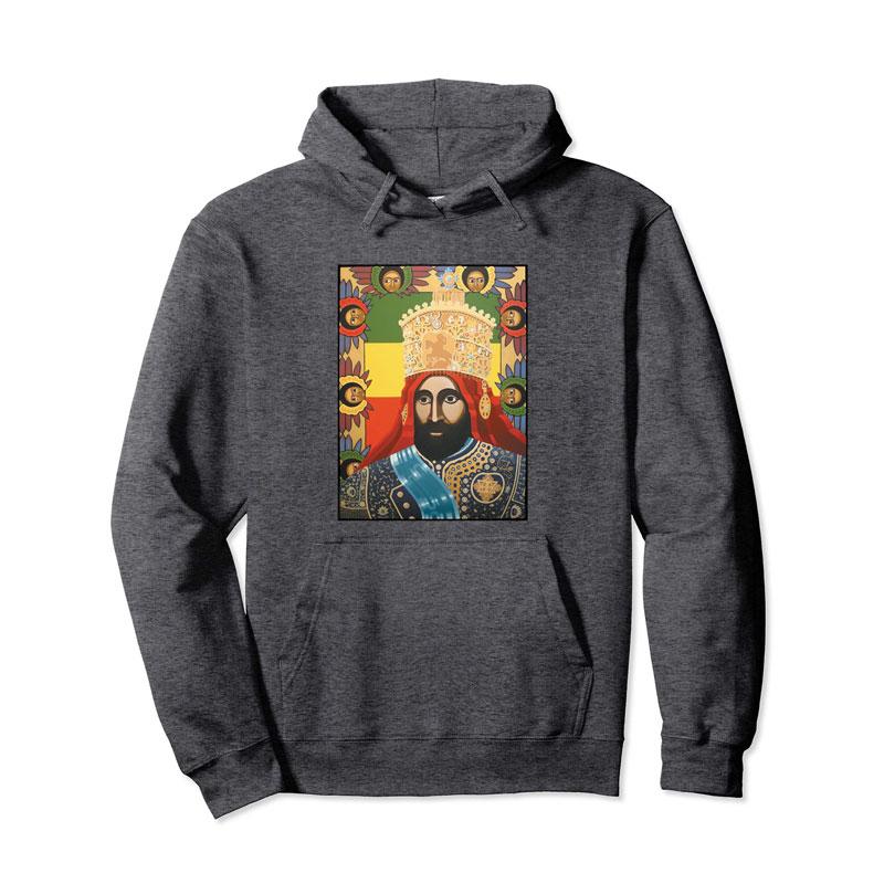 1991b7e2 Haile Selassie I - Jah Rastafarian Hoodie - Reggae Wear - Rasta Clothing