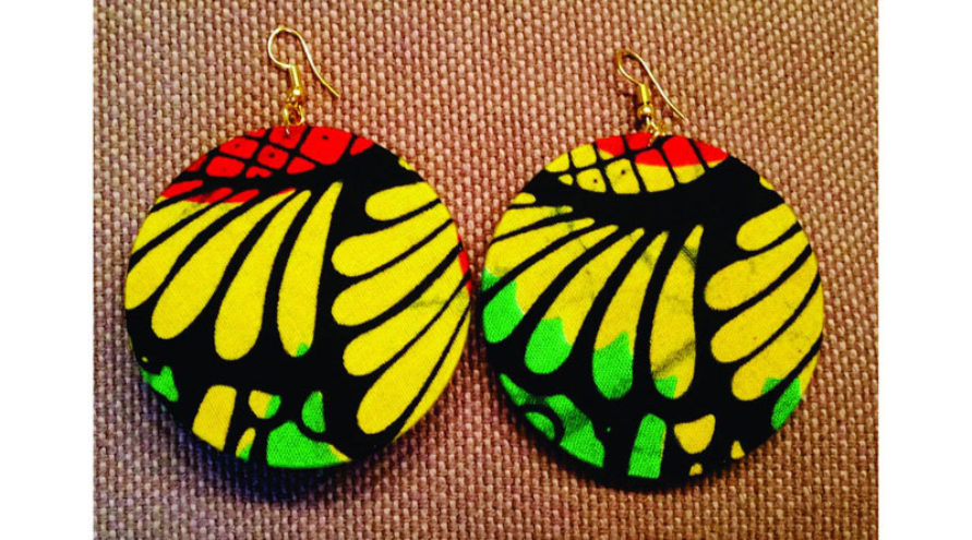 Africa upcycling earrings
