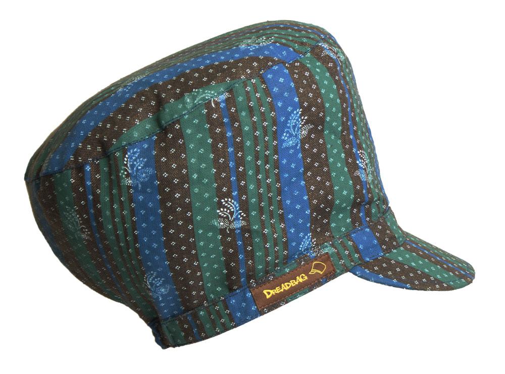 Stribet dreadbag linned ornament - køb dreadlocks hat