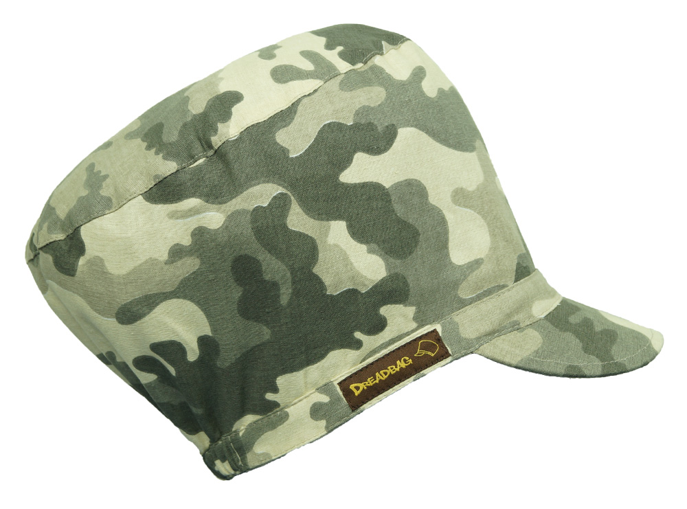Dreadbag Camouflage Olive Beige Rasta Cap Rastafari Crown Dreadlock Hat Dreadcap Beanie