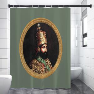Haile Selassie - Jah Rastafari - Duschvorhang günstig online kaufen