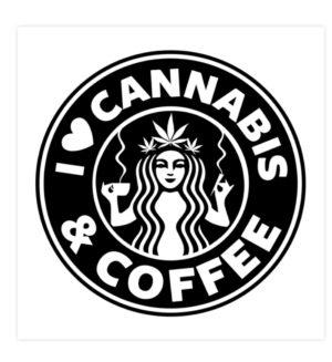 사랑 대마초 & 커피 스티커-스티커 -3