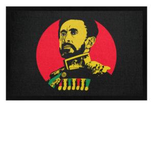 Haile Selassie Jah Rastafari Fussmatte - Fußmatte mit Gummirand-16