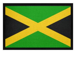 Jamaika Flagge Mussmatte - Fußmatte mit Gummirand-16