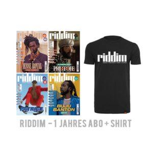 Riddim Reggae Dancehall Magazin 1 Jahres Abo T-Shirt kaufen