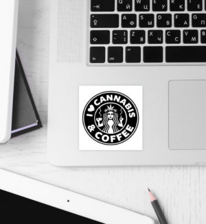 Love Cannabis & Coffee Sticker - Sticker-3