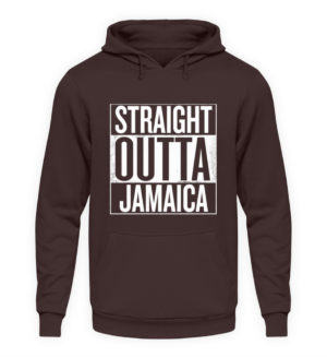 Straight Outta Jamaica Hoodie - Unisex Hooded Pullover Hoodie-1604