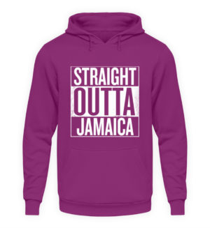 Straight Outta Jamaica Hoodie - Unisex Hooded Pullover Hoodie-1658