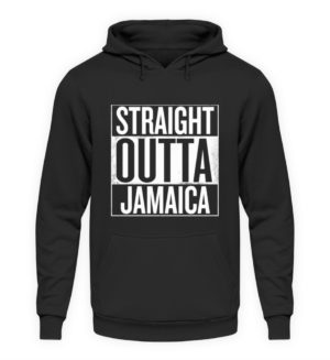 Straight Outta Jamaica Hoodie - Unisex Hooded Pullover Hoodie-1624