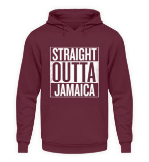 Straight Outta Jamaica Hoodie - Unisex Hooded Pullover Hoodie-839