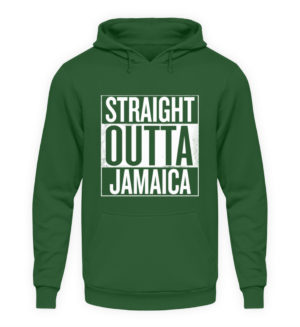 Straight Outta Jamaica Hoodie - Unisex Hooded Pullover Hoodie-833