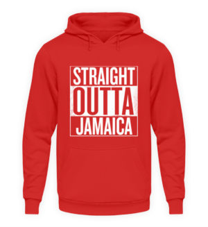 Straight Outta Jamaica Hoodie - Unisex Hooded Pullover Hoodie-1565