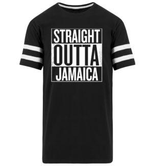 Straight Outta Jamaica Shirt - Randig lång skjorta herr-16
