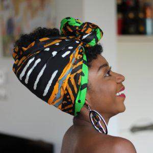 African Dreadwap - Headwrap for Dreads Locs Afro Long Hair - African Wax print - Cotton Shop