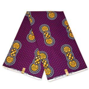 Afrikaanse Wax Print - Headwrap - paars gele hoofddoek voor Dreads Afros Lamge haar