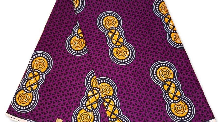 Африканская повязка на голову фиолетовая