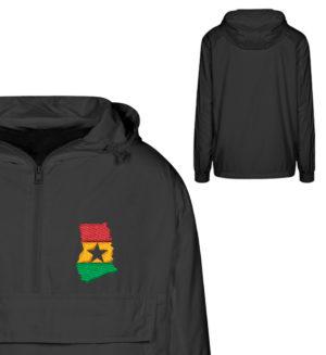 Bunda s vetrovkou Ghana One Love - Urban Windbreaker s Stick-16