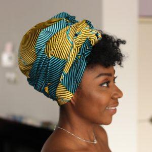 Afrykańska opaska na głowę z woskiem