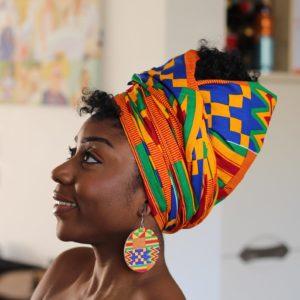 African Wax Print Headwrap