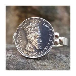 Haile Selassie I - HIM - Silver Ring