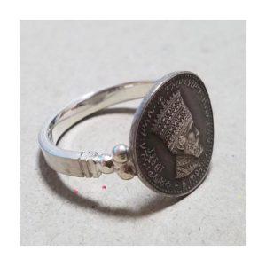 Haile Selassie I - HIM - Silver Ring - RAstafari Shop