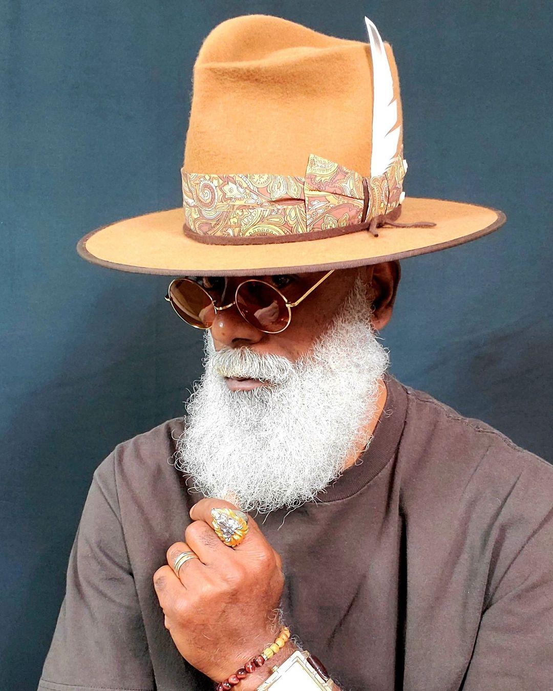 Den sorte hatter. Rockers Fedora. Gumby Uldfilt med brugerdefineret bund