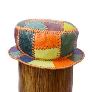 Prince Crown Kangol Style Leather Designer Bucket Hat
