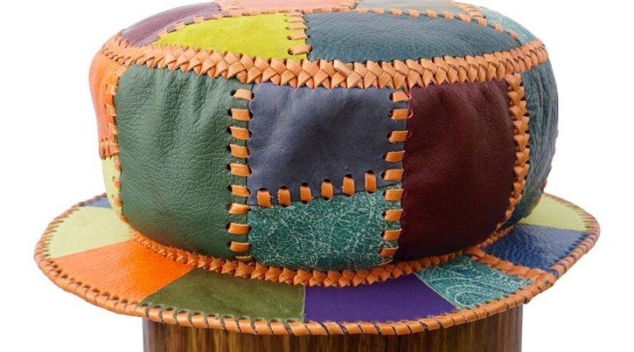 Cappello in pelle Rasta stile Kangol