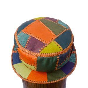 Cappello da pescatore firmato Prince Crown stile Kangol in pelle