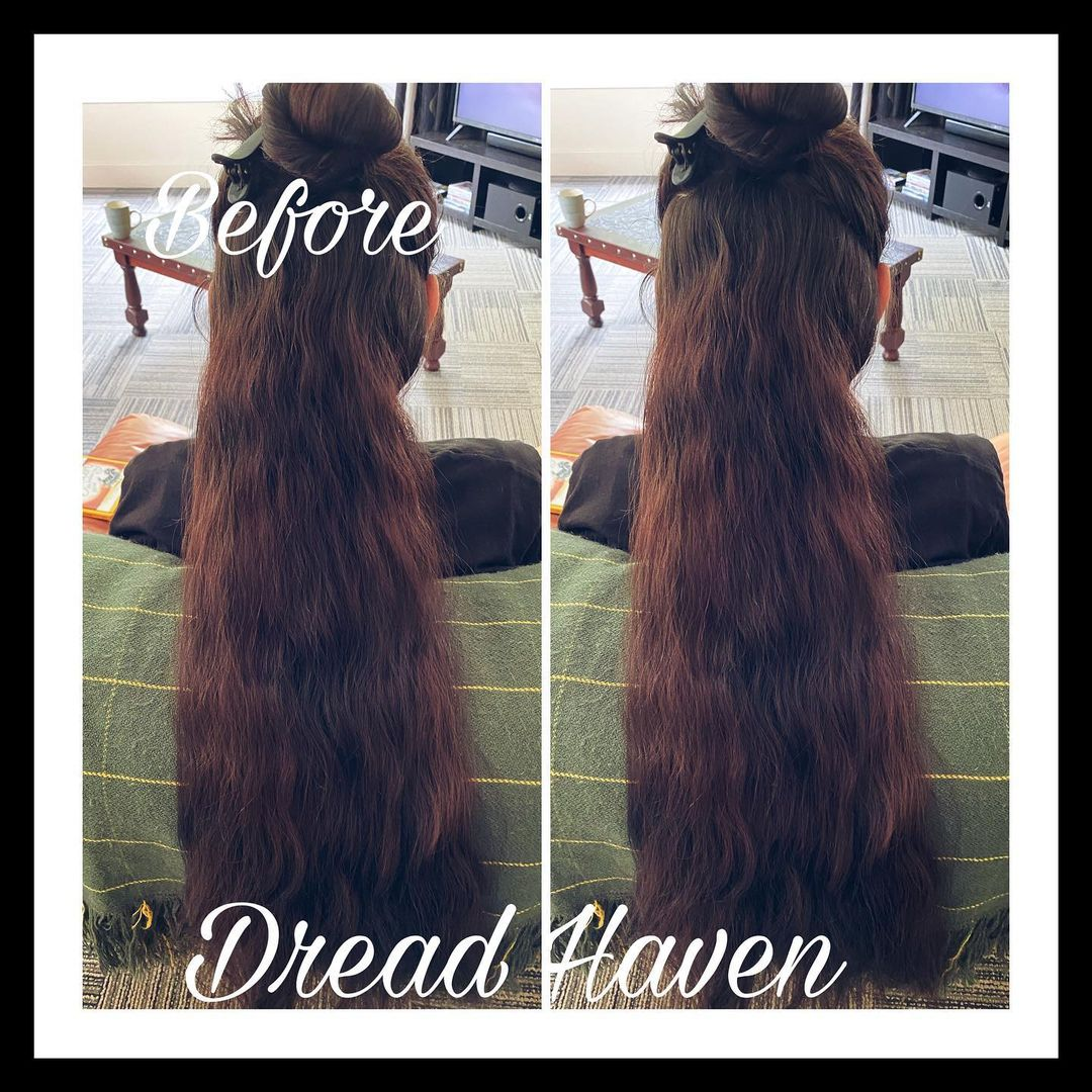 Happy half head sweet lady!  – – – #dreadlocks #dreadstyle #dreads #dreadhead…