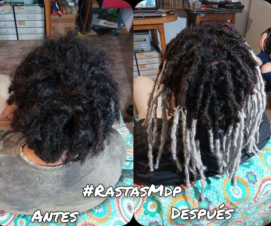 #RastasMdp ANTES Y DESPUES arreglo de dreads mas rozšíření! #dreadsfixing # dr…