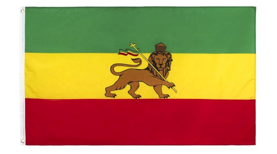 Bandera rastafari del León de Judá