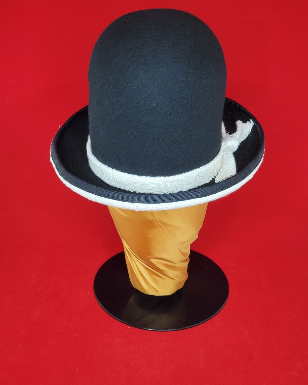 The Black Hatter.   Rockers Uptown Bowler.  Woolfelt with a African Mudd Cloth B…