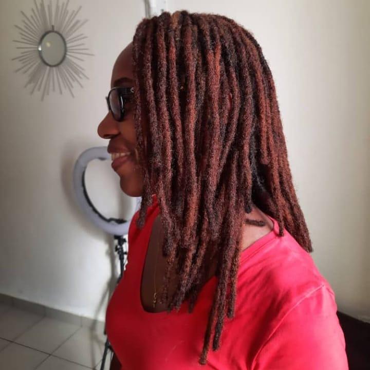 #dreadlocsforwomen #librevillegabon #locsextensions #dreadhead #dreadhair # locna ...