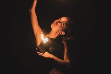 #fire #performance #fireshow #river #night #dark #art #light #dready #dreadlock...