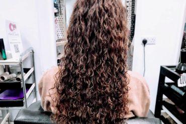 #impresiones de cabello y belleza #spiralperm #spiralocks #cut #longlayers ## longhair…