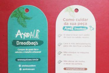 Se liga Agora nossas Dreadbag's vão com uma tag de instruções de cuidado com a…